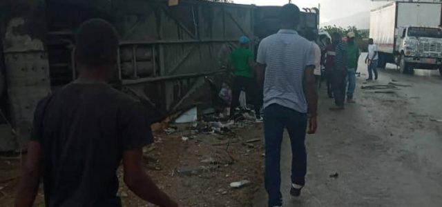 Terrible accident de la circulation à Arcahaie : 21 morts et une trentaine de blessés.-